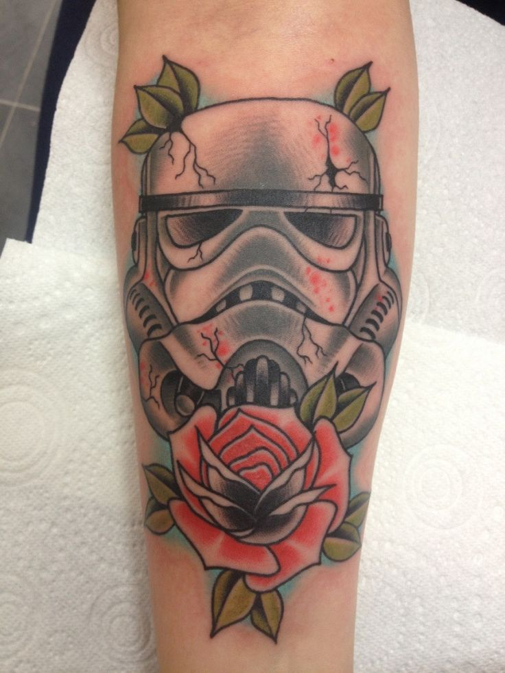 27 roses and stormtrooper tattoos. Black Bedroom Furniture Sets. Home Design Ideas