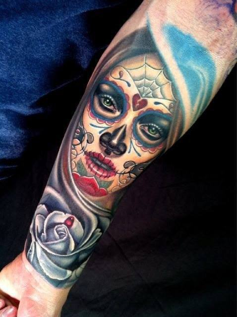 4 latest day of the dead tattoos. Black Bedroom Furniture Sets. Home Design Ideas