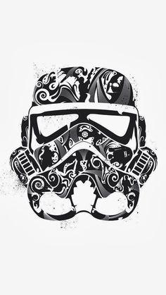 15+ Wonderful Stormtrooper Tattoo Designs Stormtrooper Helmet Sugar Skull