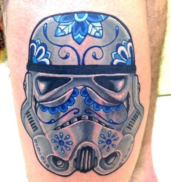 Storm Trooper Tattoo Watercolor