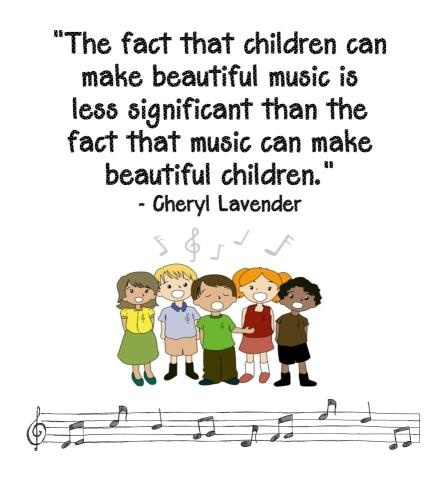 The Fact That Children Make Beautiful Music Is Less Significant Than