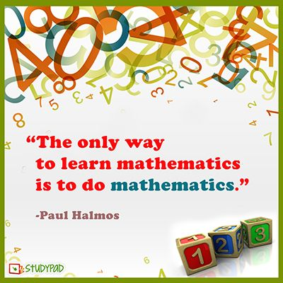 Worksheets Images Only Math 62 best mathematics quotes the only way to learn is do mathematics