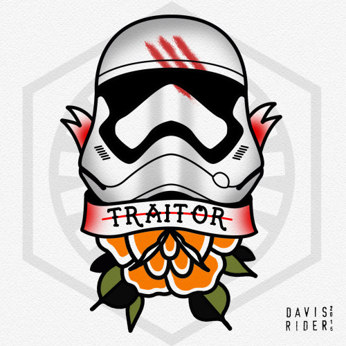 Traitor Stormtrooper Helmet Tattoo Design