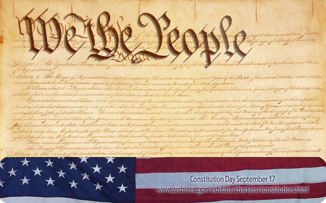 A 2005 act of Congress states that all educational institutions receiving federal funding must observe September 17 as Constitution Day which celebrates the 1787
