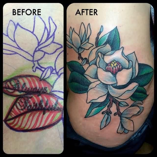 Magnolia Tree Side Tattoo 46+ Wonderful Magnolia...