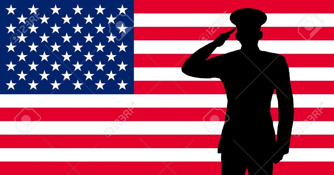 american soldier saluting on veterans day picture