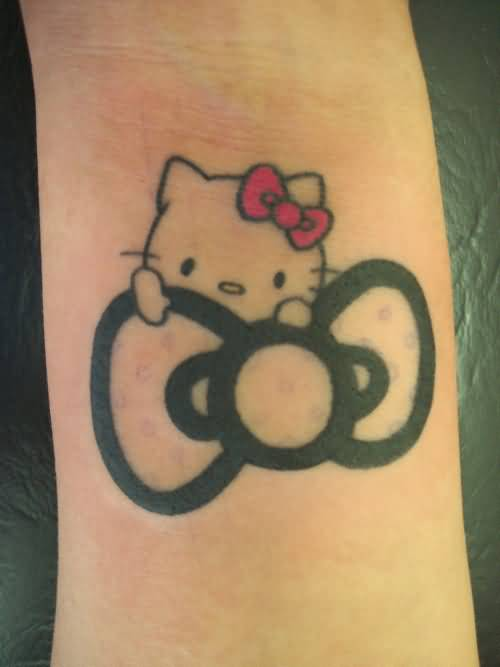 Hello Kitty Bow Tattoo Foot 34+ Beautiful Hello Ki...