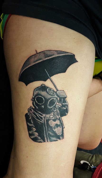 33 wonderful umbrella tattoos. Black Bedroom Furniture Sets. Home Design Ideas