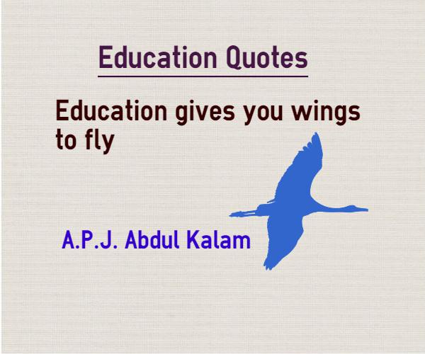 Education Gives You Wings To Fly