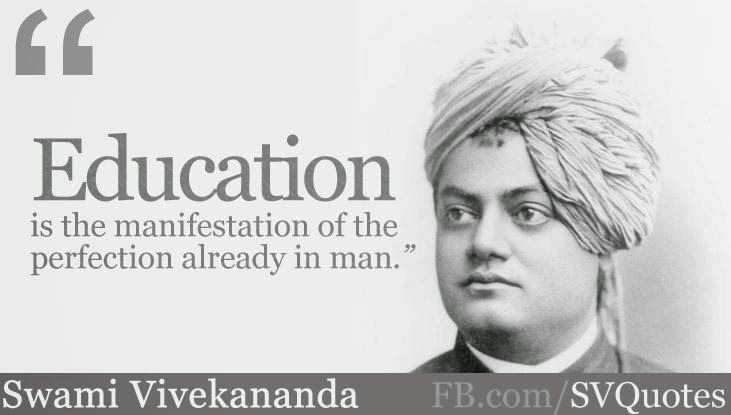 """education is the manifestation of perfection education essay Quotations for upsc essay paper importance of quotations in upsc essay writing  """"education is the manifestation of perfection already in man."""
