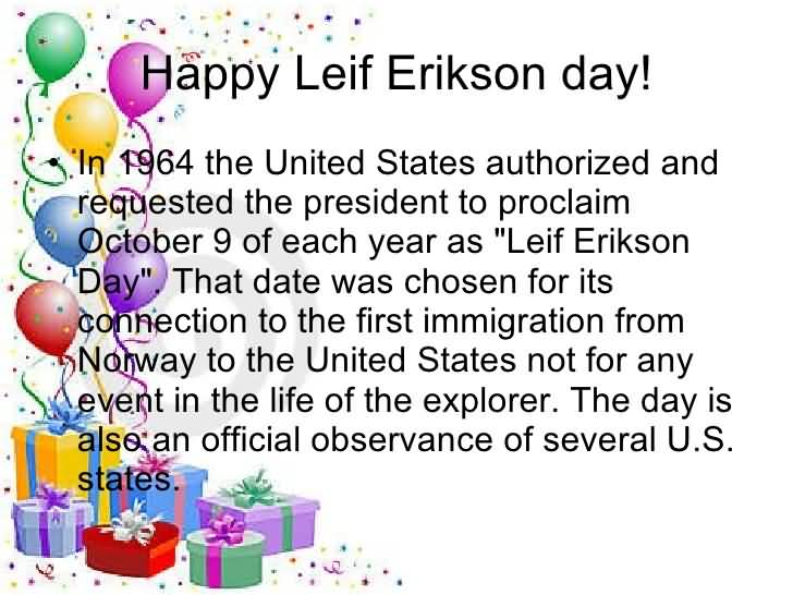 Happy Leif Erikson Day Hinga Dinga Durgen