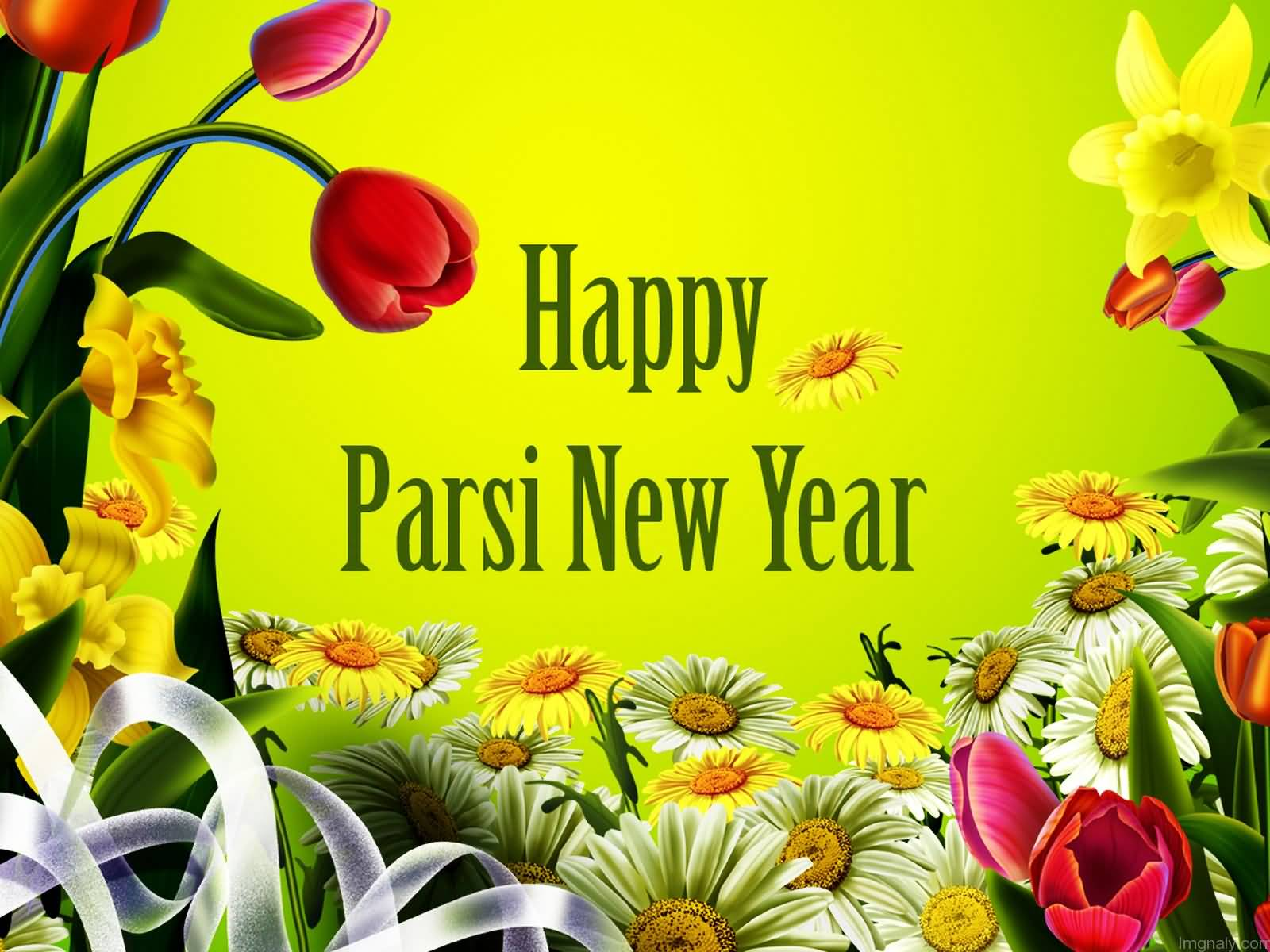 happy parsi newyear greeting card