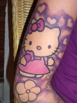 12 hello kitty tattoos on sleeve for Hello kitty tattoo sleeve