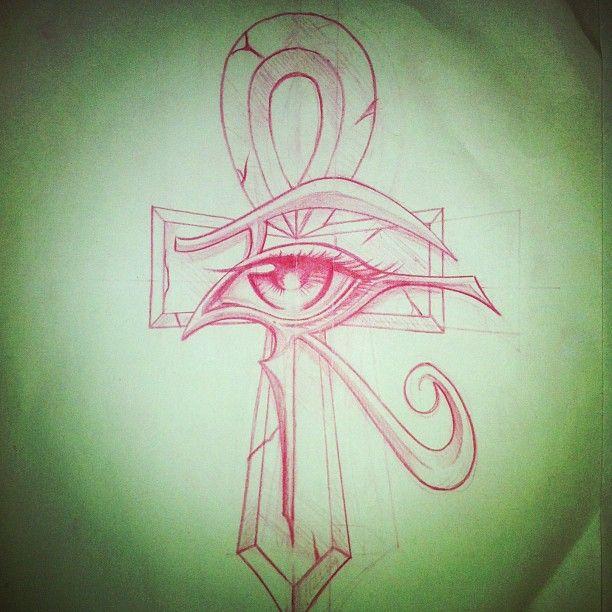 44 wonderful ankh tattoos designs for Eye of horus temporary tattoo