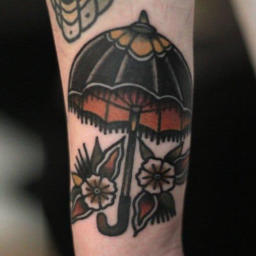 traditional umbrella tattoo by lbi rothe rh askideas com Traditional Tattoo Designs American Traditional Tattoos
