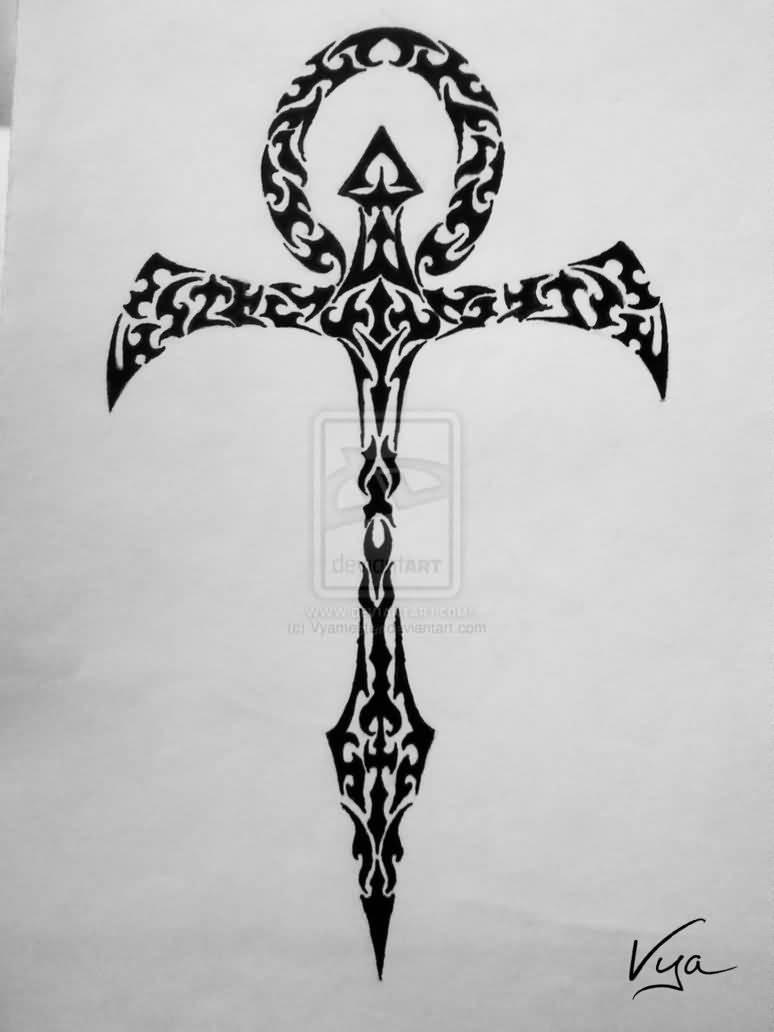44 wonderful ankh tattoos designs. Black Bedroom Furniture Sets. Home Design Ideas
