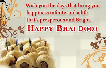 38 best bhai dooj greeting card pictures and photos bhai dooj greeting card wish you the days that bring you happiness infinite and a life thats prosperous and bright m4hsunfo
