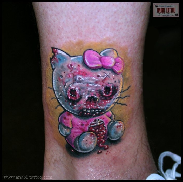 16d0480f376ad Zombie Hello Kitty Tattoo For Men