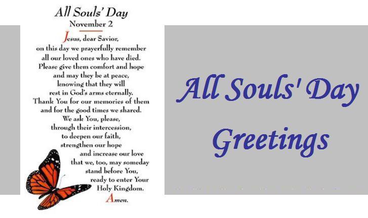 All Souls' Day Greetings November 2