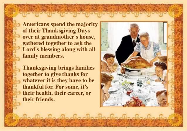 Americans Spend The Majority Of Their Thanksgiving Days Over At Grandmother's House