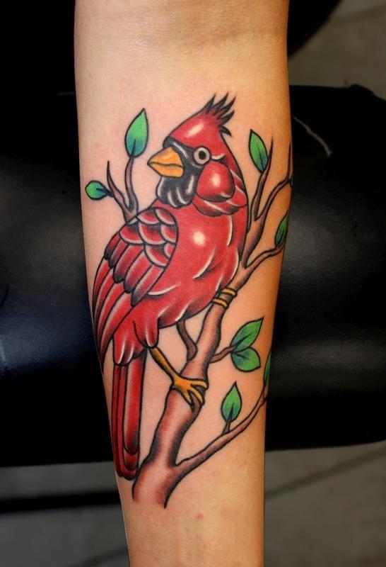 Awesome Cardinal Tattoo By Myke Chambers