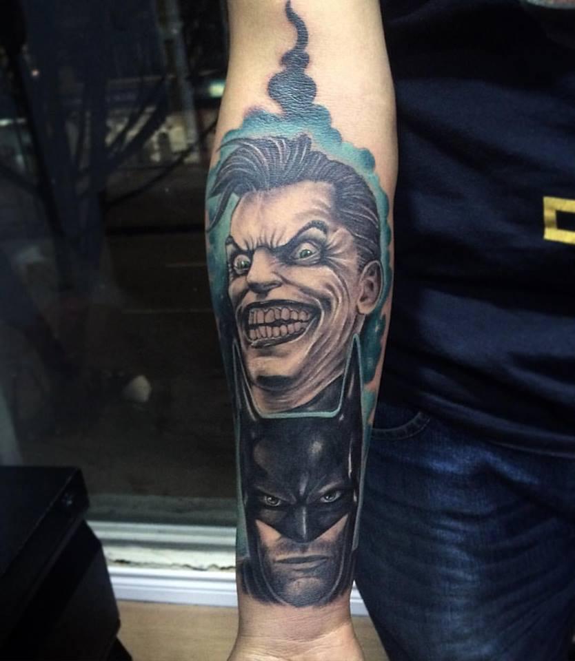 Batman tattoos for Joker batman tattoo