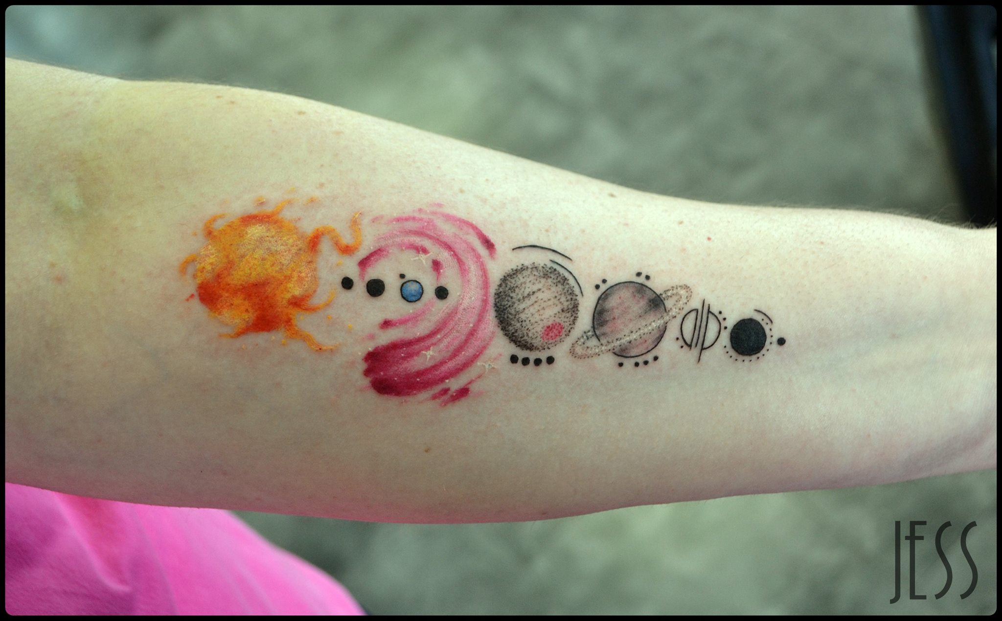 tattoos on wrist of the solar system - photo #34