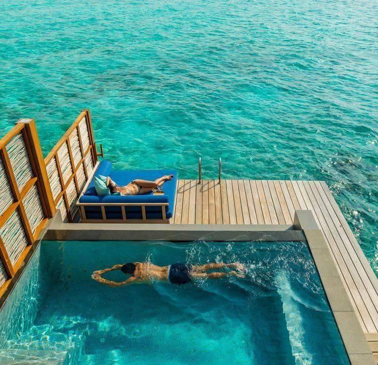 Velassaru Island Hotel Maldives Pool In The Ocean