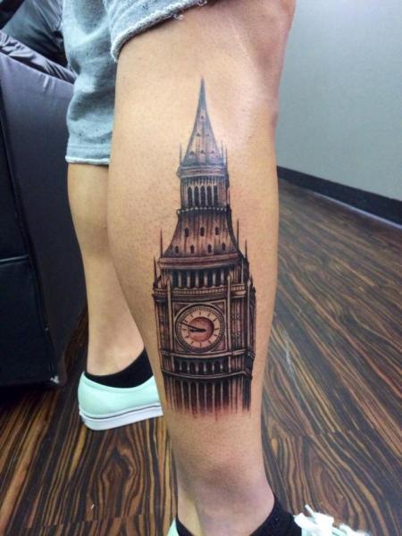 Clock tower tattoo beautiful london clock tower big ben tattoo on man