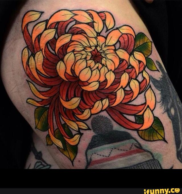 12+ Nice Chrysanthemum Shoulder Tattoos
