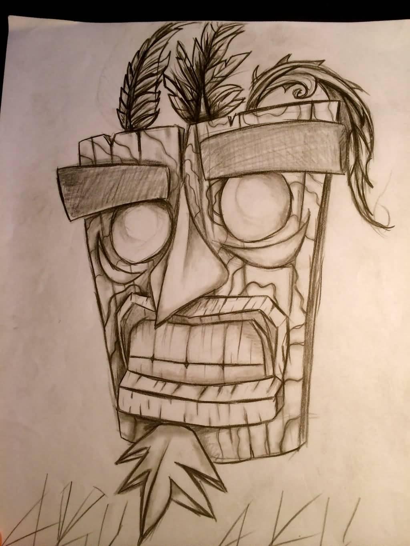 Aku aku tattoos for Crash bandicoot tattoo