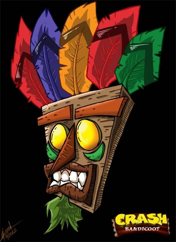 crash bandicoot aku aku tattoo sample by supermanosbros