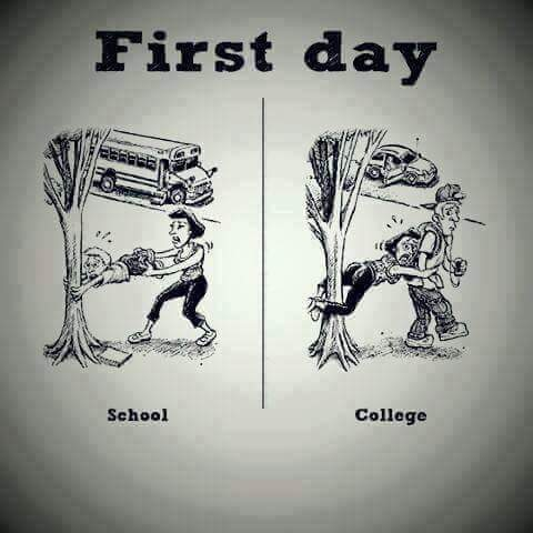 Funny Difference In School And College Life