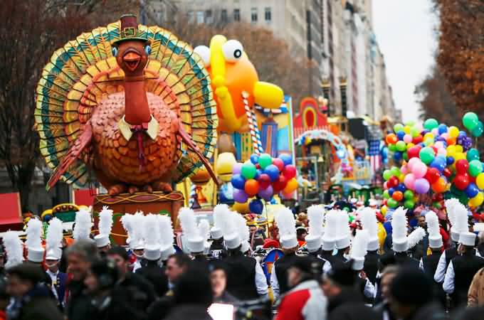 Floats During Thanksgiving Day Parade