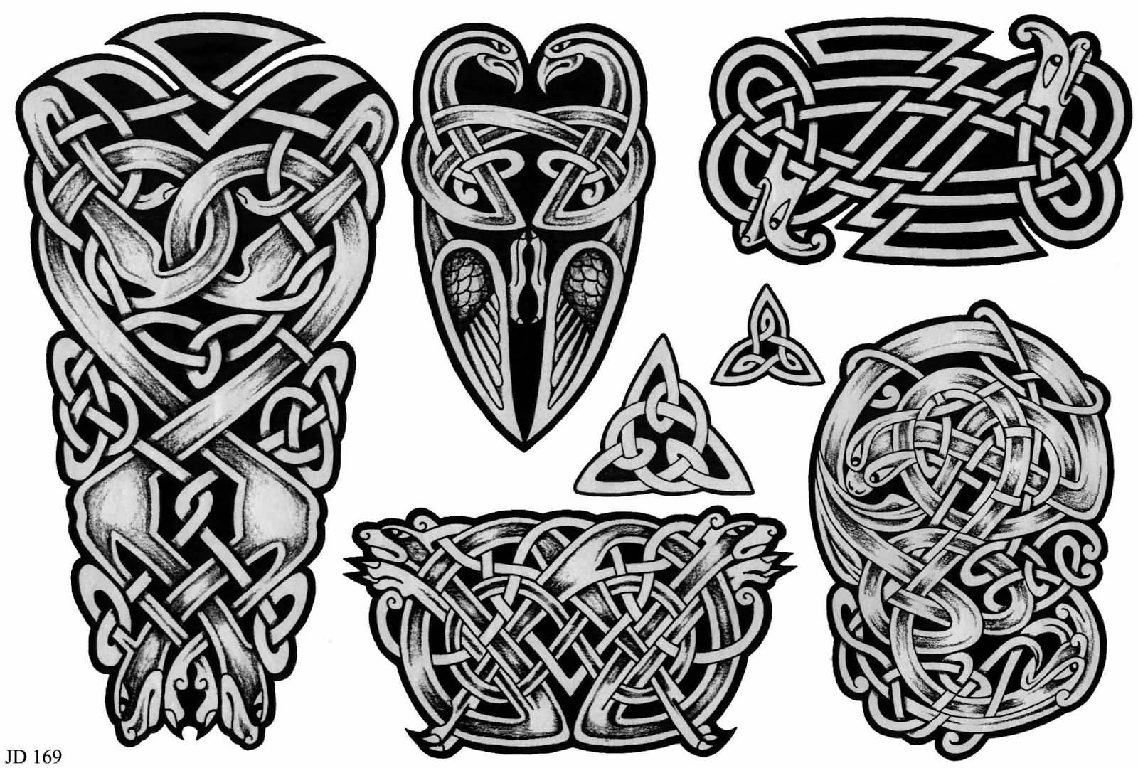 Grey Celtic Tattoos Design Ideas