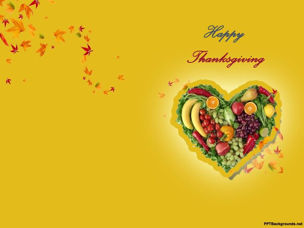 Happy Thanksgiving 2016 Heart Of Fruits Picture