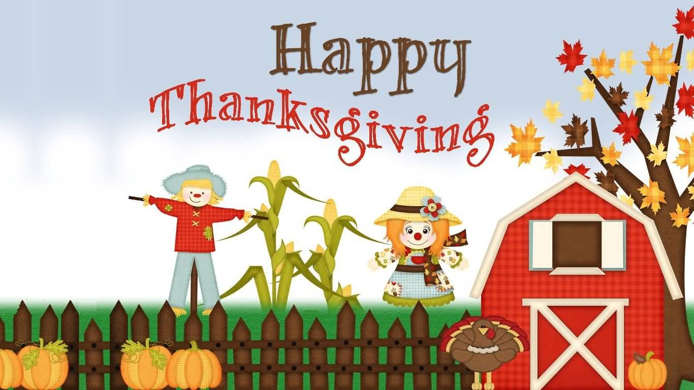 Happy Thanksgiving 2016 Scarecrows Picture