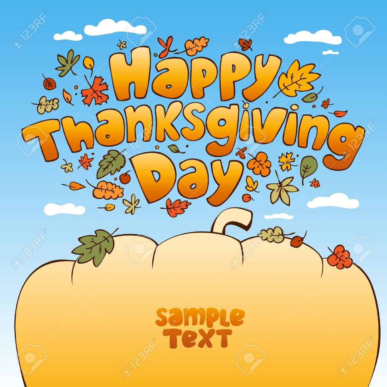 Happy Thanksgiving Day 2016 Illustration