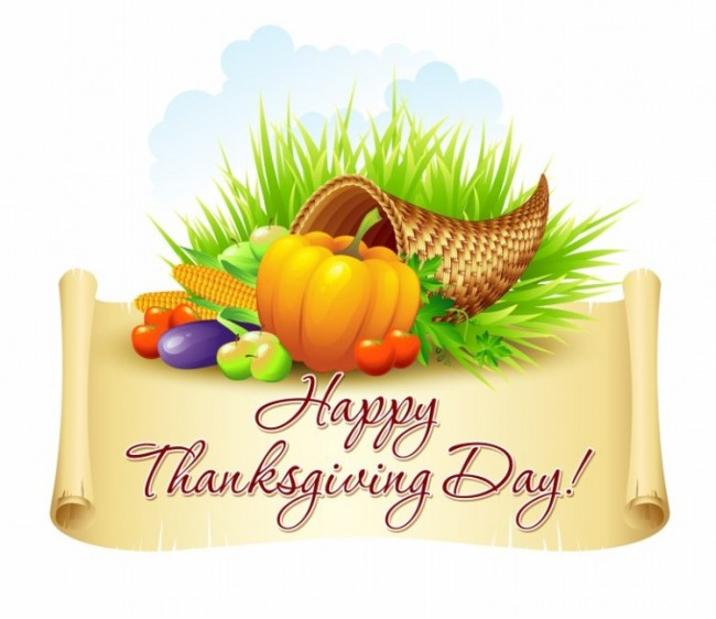 Happy Thanksgiving Day Fruits Clipart