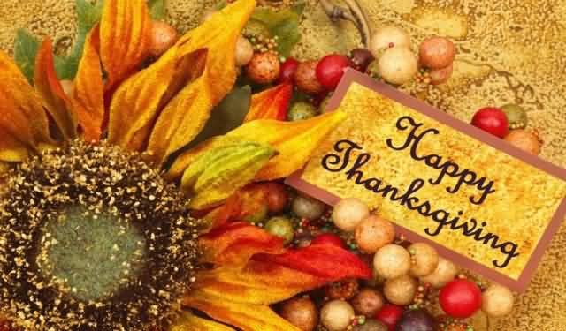 Happy Thanksgiving Day Greeting Ecard