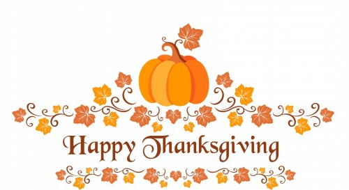 Happy Thanksgiving Day Pumpkin Clipart