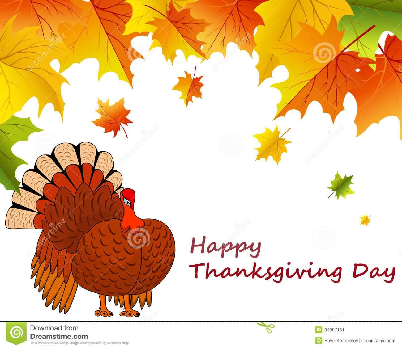 Happy Thanksgiving Day Turkey Clipart