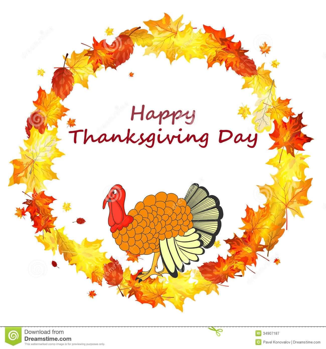 Happy Thanksgiving Day Turkey Illustration