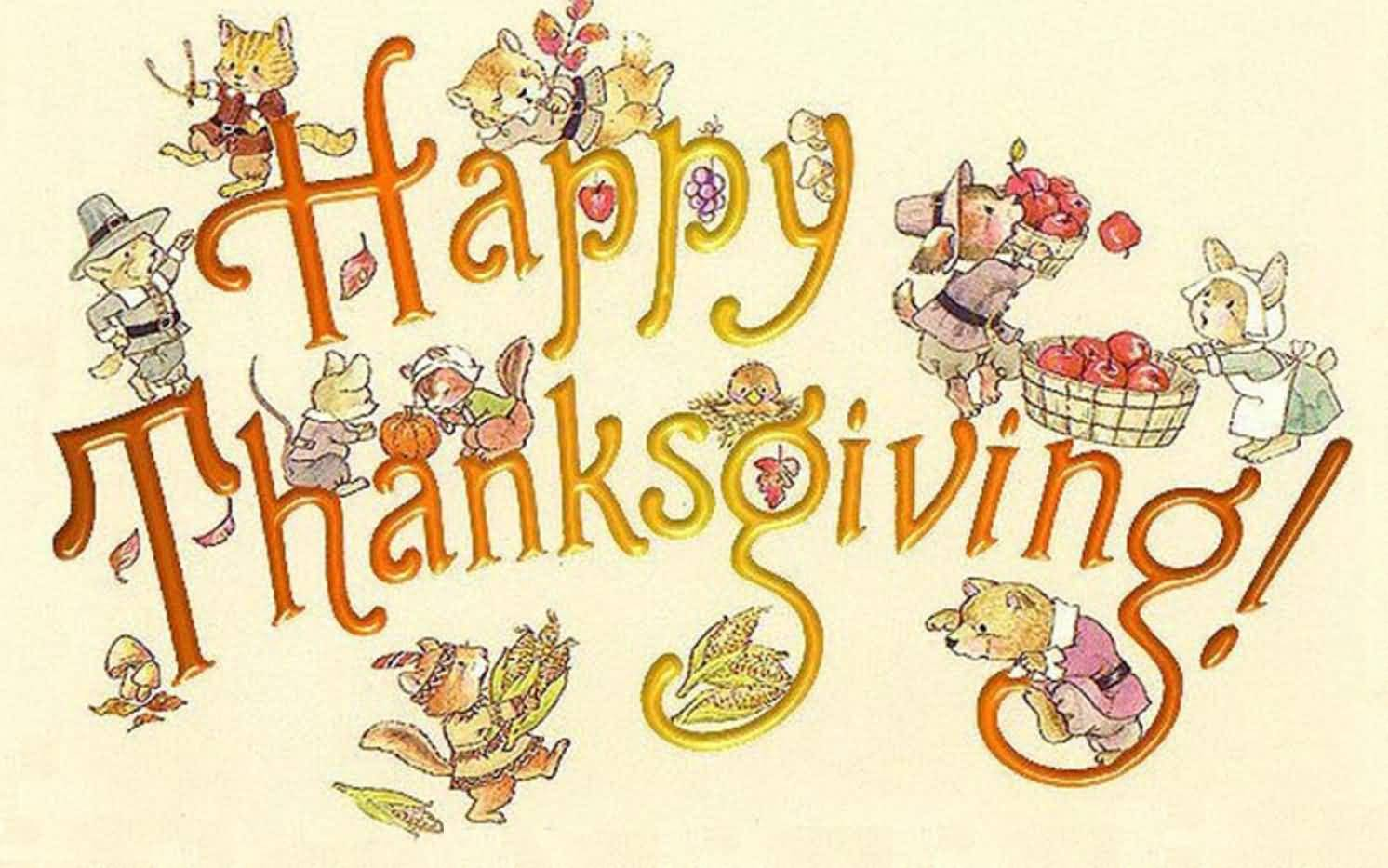 Happy Thanksgiving Day Wishes Wallpaper