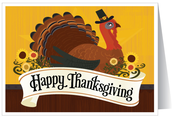 55 most beautiful thanksgiving day greeting card pictures happy thanksgiving turkey on greeting card m4hsunfo Choice Image