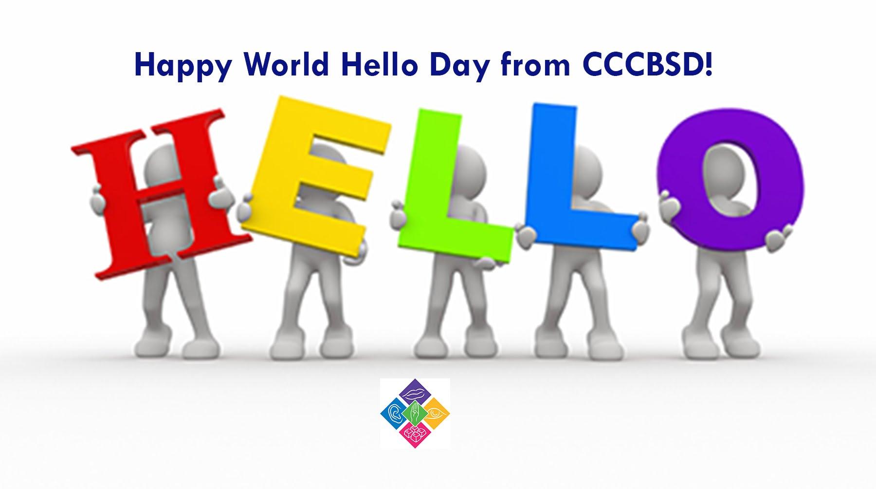 Happy World Hello Day Cartoon Picture