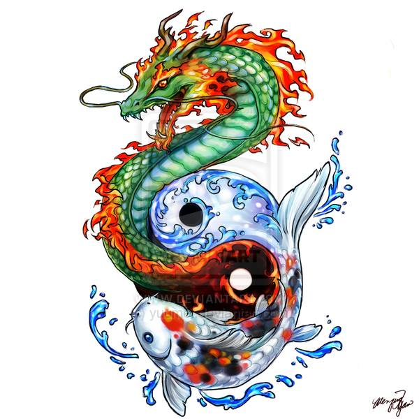 22+ Japanese Dragon Fish Tattoos