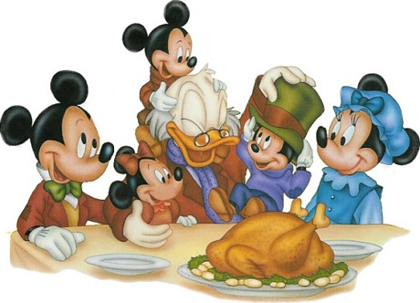 Mickey Mouse And Friends Wishing You Thanksgiving Day