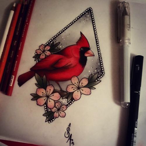 15 latest cardinal tattoo designs