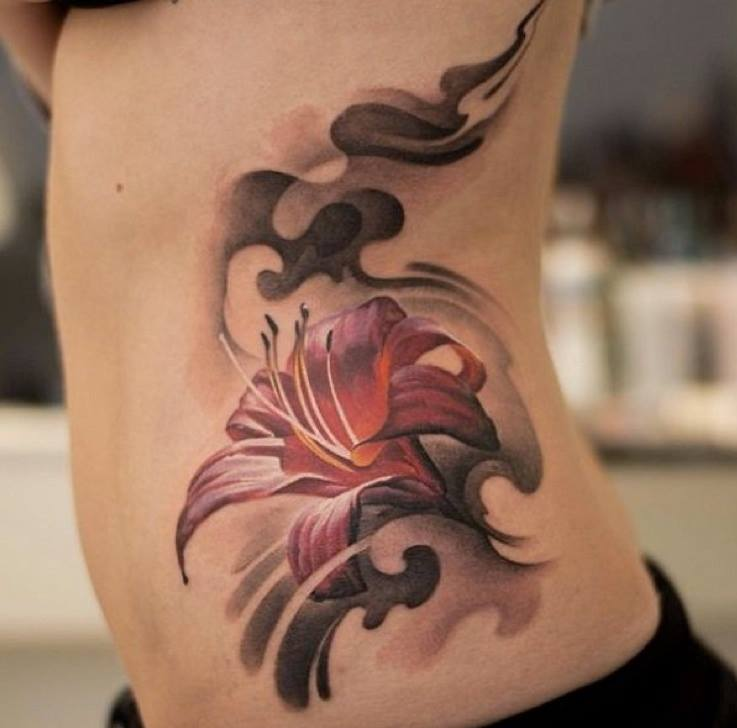 4 latest lily flower tattoos. Black Bedroom Furniture Sets. Home Design Ideas